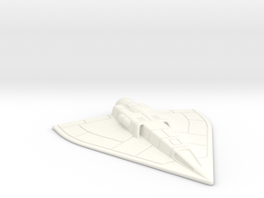 6mm Interface Shuttle in White Processed Versatile Plastic
