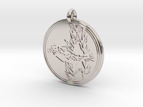 Harbor Seal Animal Totem Pendant in Rhodium Plated Brass