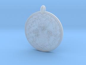 Honey Bee Animal Totem Pendant in Smooth Fine Detail Plastic
