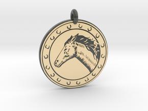 Horse Animal Totem Pendant 2 in Glossy Full Color Sandstone