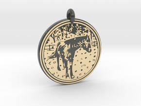 Horse Animal Totem Pendant in Glossy Full Color Sandstone