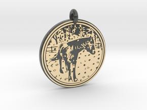 Horse Animal Totem Pendant in Glossy Full Color Sandstone