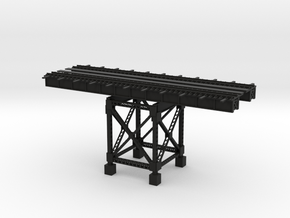 PRR HIGHLINE 12 SECTION with ONE SUPPORT in Black Natural Versatile Plastic