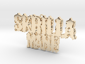 Skrillamane Pendant  in 14k Gold Plated Brass