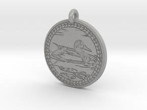 Mallard Duck Animal Totem Pendant in Aluminum