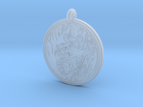 Koala Animal Totem Pendant in Smooth Fine Detail Plastic