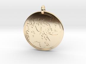 Moose Animal Totem Pendant 2 in 14k Gold Plated Brass