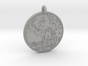 Moose Animal Totem Pendant in Aluminum