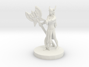 Barbarian Tiefling (Female)  in White Natural Versatile Plastic