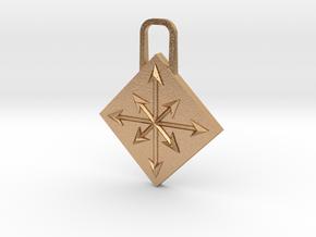 Chaos Zipper Pull in Natural Bronze