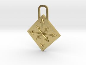 Chaos Zipper Pull in Natural Brass
