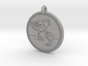 Piping Plover Animal Totem Pendant in Aluminum