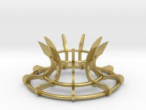 Scimitar Egg Stand Version 2 in Natural Brass: Medium