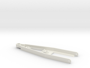 """droparm short for """"Back to '60"""" chassis in White Natural Versatile Plastic"""