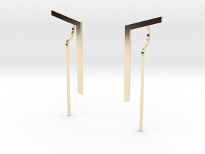 Minimal Elle Earrings in 14K Yellow Gold