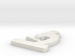 Microscope Pendant in White Natural Versatile Plastic