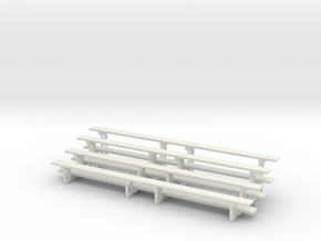 Printle Thing Bleachers x 2 Horizontal - 1/48 in White Natural Versatile Plastic