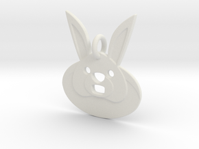 Rabbit Hole Pendant in White Natural Versatile Plastic