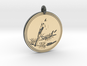 Kirtlands Warbler Animal Totem Pendant in Glossy Full Color Sandstone