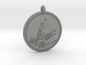 Kirtlands Warbler Animal Totem Pendant in Gray PA12