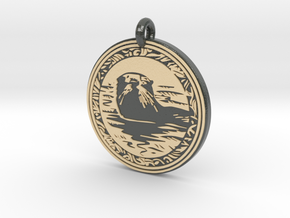 Sea Otter Animal Totem Pendant in Glossy Full Color Sandstone