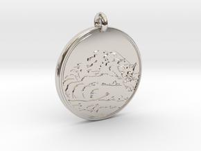 Ring tail Animal Totem Pendant in Platinum