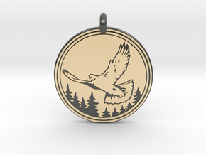 Rock Dove Animal Totem Pendant in Glossy Full Color Sandstone