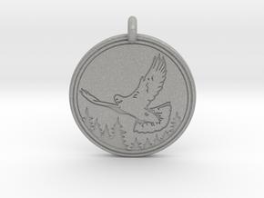 Rock Dove Animal Totem Pendant in Aluminum