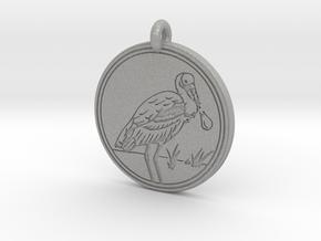 Roseate Spoonbill Animal Totem Pendant in Aluminum