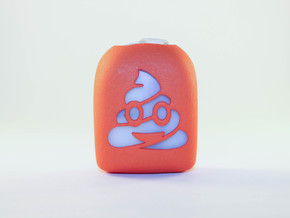 Poop Emoji - Omnipod Pod Cover in Orange Processed Versatile Plastic