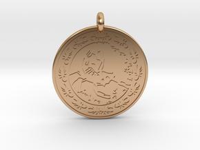 Scorpion Animal Totem Pendant in Polished Bronze