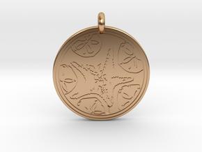Sea Star ( Star Fish) Animal Totem Pendant in Polished Bronze