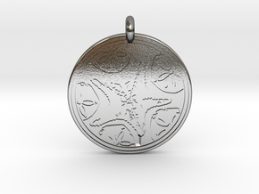 Sea Star ( Star Fish) Animal Totem Pendant in Polished Silver