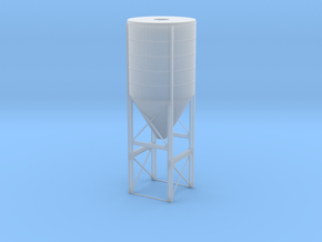'N Scale' - Cement Plant - Silos in Smooth Fine Detail Plastic