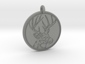 Whitetail Deer Animal Totem Pendant 2 in Gray PA12