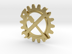 Engineering Corps Badge in Natural Brass
