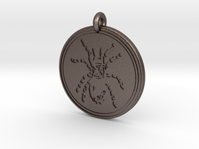 Tarantula Animal Totem Pendant in Polished Bronzed-Silver Steel