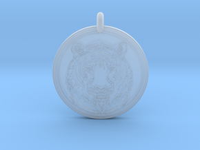 Tiger Animal Totem Pendant 2 in Smooth Fine Detail Plastic