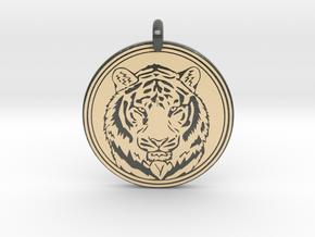 Tiger Animal Totem Pendant 2 in Glossy Full Color Sandstone