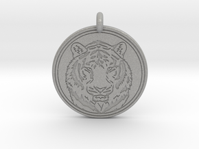 Tiger Animal Totem Pendant 2 in Aluminum