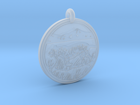 Tiger Animal Totem Pendant  in Smooth Fine Detail Plastic