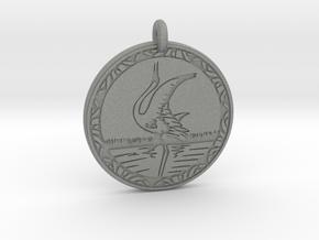 Whooping Crane Animal Totem Pendant in Gray PA12