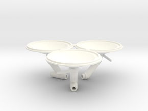 Funnel caps for Retro Euro Bulk Tanker in White Processed Versatile Plastic