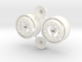 5-Hole Front Rims Generic  in White Processed Versatile Plastic