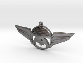 747 Wings Necklace in Polished Nickel Steel