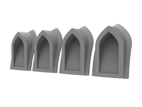 Arch Vent - Hollow (4pcs) in Smoothest Fine Detail Plastic