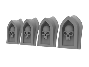 Arch Vent - Skull (4pcs) in Smoothest Fine Detail Plastic