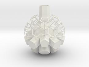 Vase 427SCB in White Natural Versatile Plastic