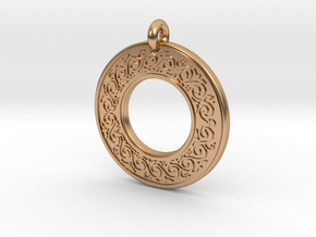 Sacred Tree Annulus Donut Pendant in Polished Bronze