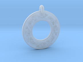 Celtic Fish Annulus Donut Pendant in Smooth Fine Detail Plastic